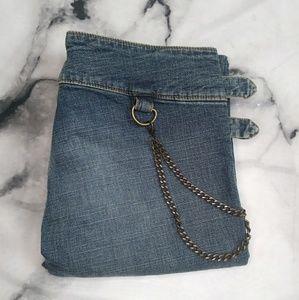 A.B.S. by Allen Schwartz Lo-Rise Boot Chain Jeans